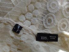 Cream80%CottonBlendLaceL/sParty SzXXS NWoT