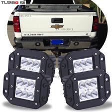For Nissan Titan Truck Flush Mount Backup Reverse Rear+Front Bumper 4x Led Light