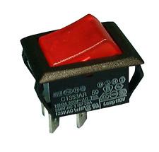 Philmore 30 867 Dpst On Off 125v Red Lighted Rocker Switch 20a250v Ac