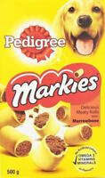 Pedigree Markies Delicious Filled Rolls Marrowbone 500g Dog Treats Food Biscuits