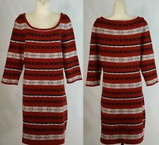 FRENCH CONNECTION Striped Sweater Dress Size 12 Womens Fair Isle Lambs Wool $168