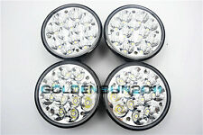"4PCS 5-3/4"" H5001/H5006 Sealed Beam Hi-Power 36W Round LED Headlight Replacement"