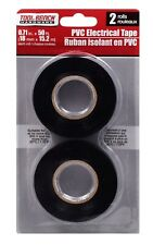 """New listing Tool Bench Black Electrical Tape 3/4"""" X 100' Ft 24 Packs (48 Rolls)"""