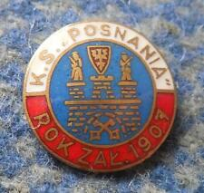 POSNANIA POZNAN POLAND RUGBY POWERBOAT CANOE KAYAK ROWING 1960's BIG GOLD PIN