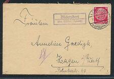 00885) Country Post ra2 biebersdorf on Spreewald (spreew.) Letter 1937
