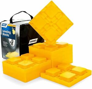 10 Pack Camco RV Leveling Blocks Camper Trailer Strong Heavy Duty Interlocking