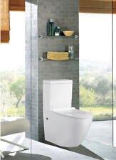 TOILET SUITE CERAMIC SOFT CLOSE SEAT RIMLESS BACK TO WALL P OR S TRAP