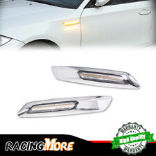 For BMW 1 3 5 X3 Series 3D Optic Clear Lens White & Amber LED Side Marker Lamps