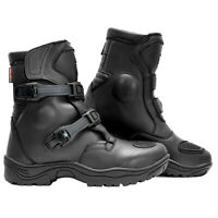 Richa Colt ADVENTURE Black Short Motorcycle Boots WITH DOUBLE ADJUSTMENT PQ