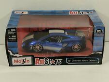 Maisto AllStars Lamborghini Gallardo LP 560-4 Blue w/ White Stripes 1:24 Scale