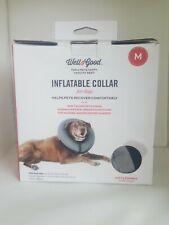 Well & Good Inflatable Collar for Dogs Grey Size Medium Brand New