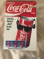Vintage Dancing Coca-Cola Coke Can w Headphones Music Response Red Classic 1989