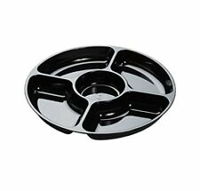 12-Inch 5-Comp Platter Pleasers Black Trays with Dome Pet Lid, 10pcs