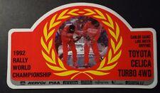 Aufkleber 1992 Rally WRC Sainz/Moya TTE TOYOTA Celica Turbo 4 WD Sticker