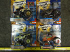 J7 Lot of 4 Hot Wheels Monster Jam Flag Pirate Curse Soldier Fortune Grave Digge