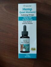 Hemp Oil Quiet Moments Calming Drops/Dogs & Cats Helps Reduce Stress exp 21+