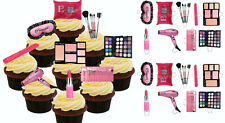 Make-Up eßbar Torten-Bild-Aufleger Party Deko Muffin Geburtstag Pinsel Rouge