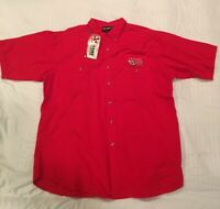 NEW Chase Authentics Dale Earnhardt Jr. XL NASCAR 8 Mechanic Red Button Shirt