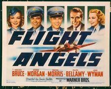 FLIGHT ANGELS, 1940, Virginia Bruce, Dennis Morgan, SCARCE US Title Lobby Card *