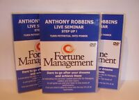 ANTHONY ROBBINS STEP UP Fortune Management 15 DVD SET
