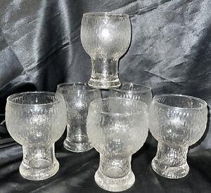 VINTAGE RETRO SET 6 Retro Littila Style Maybe Crown Drinking Glasses