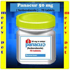 DEWORM PANACU® PANACUR 70 - 140 TABLETS / 50 mg TABLETS DOG CAT Helmintazole