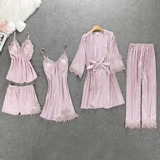 Sexy Women Pajamas Set or Dress Satin Sleepwear Pijama Perfect Gift