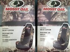 SET Of 2 MOSSY OAK BRAND CAMO UNIVERSAL BUCKET SEAT COVERS