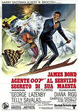On Her Majesty's Secret Service original 1969 italian two-sheet movie poster