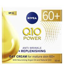 Nivea Q10 Power AGE 60+ DAY CREAM Anti Wrinkle + Replenishing mature skin SPF 15