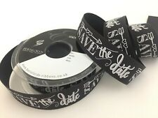 Berisfords Ribbon Save the Date Chalkboard Ribbon Width 25mm Wedding Craft