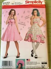 Simplicity 8127 Size 16-24 Misses' Dresses Rockabilly Uncut Sewing Pattern