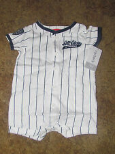 Boys Carter's NWT short sleeved wht w/blue stripe All-Star creeper size 3 months