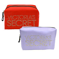 Victoria's Secret Cosmetic Bag Travel Zip Makeup Case Bling Clutch New Nwt Vs