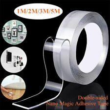 Nano Magic Adhesive Tape  Double Sided Reusable Transparent  Acrylic Waterproof