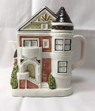 Vintage Otagiri ceramic decorative house teapot 80s Japan hand crafted