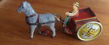 Clockwork Tin Toy TELLUS Germany 1910-1920 Horse & Cart similar Lehmann