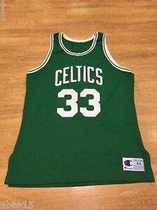 LARRY BIRD SIGNED BOSTON CELTICS AUTHENTIC CHAMPION NBA JERSEY AUTOGRAPH 1990
