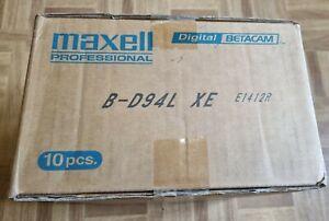 10 x Maxell B-D94L XE DIGI BETA TAPES DIGITAL BETACAM