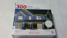 HOLIDAY TIME 300 CLEAR ICiCLE LIGHTS