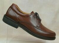 Ecco Shock Point Brown Leather Oxford Lace Up Shoes Men's US 12-12.5 / EUR 46