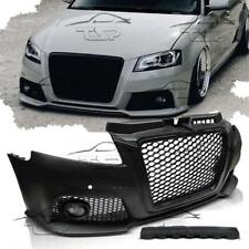FRONT BUMPER FOR AUDI A3 8P 08-12 PDC BODY KIT RS3 LOOK FOG LIGHTS BLACK GRILL