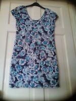 Scuba/wiggle/bodycon Style Dress Size 12 Stretchy,Floral Print