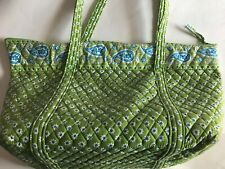 Retired Vera Bradley Apple Green Duffle Large Tote Purse