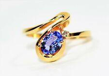 Tanzanite & Diamond .91tcw 10kt Yellow Gold Women's Ring