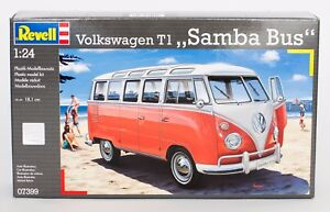 Revell 07399 Volkswagen T1 Samba Bus Plastik-Modellbausatz 1:24 NEU