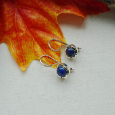 Lapislazuli blau edel elegant modern Ohrringe, Ohrhänger 925 Sterling Silber neu
