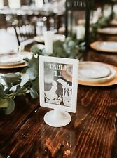 Custom Disney Wedding Table Numbers