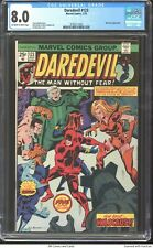 Daredevil #123 1975 CGC 8.0 - Buscema cover - Nick Fury appearance