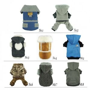 Fitwarm Boy Winter Warm Pet Clothes Dog Cat Jumpsuit Fleece Coat Hoodies Jacket